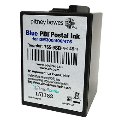 Pitney Bowes DM300c, DM400c & DM475 Ink Cartridge - Original SMART BLUE Ink